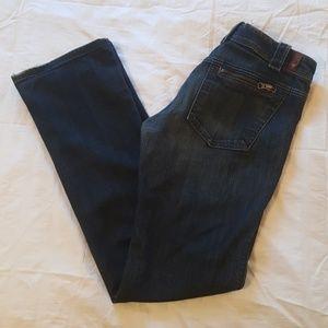 7FAMK Dark Wash Boot Cut Jeans W/ Zip Pockets